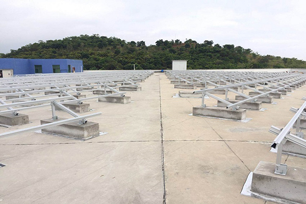 7.0MW aluminum mounting system on rooftop
