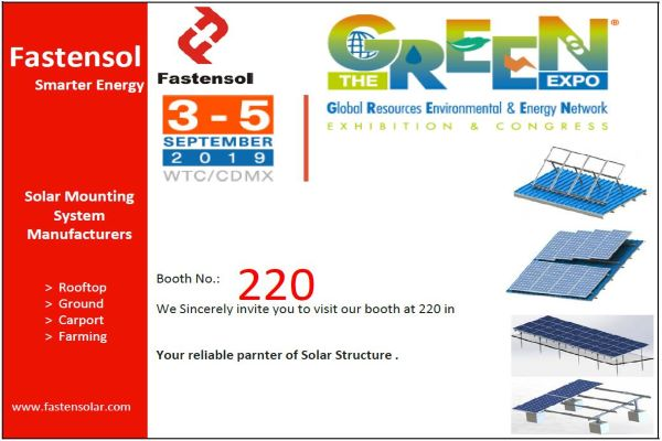 FASTENSOL WILL ATTEND THE GREEN EXPO SOLAR EXHIBITION