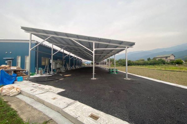 230kW Carport 6 meter Distance Solution in Japan